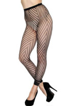 Sexy Hosiery Mode Fishnet Footless Tights W Chevron Panthose