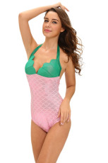 Green Pink Twinkle Little Mermaid Teddy Costume