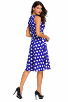 Платье для печати Blue Polka Dot Bohemain с замочками