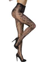 Σέξυ γοητευτικό Floral Pattern Fishnet Κάλτσα