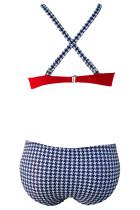 Sexy Red Padded Gather Push-up Bikini Set