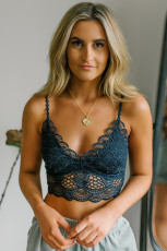 Biru Sunrise ke Sunset Lace Bra
