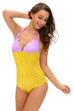 Lilac Yellow Twinkle Little Mermaid Teddy Costume