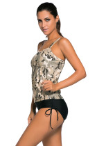Light Camouflage Stampa 2pcs Tankini Swimsuit