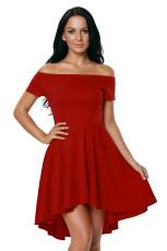 Καυτό κόκκινο όλο το φόρεμα πασιέντζα