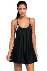 Черное плавное плавание Платье 1pc Tankini Top