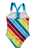 Baby Girls Multi Stripe One Piece Costum de baie