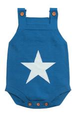 Blue Star Pola Rajutan Baju Monyet Bayi Baju Bayi