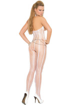 Halter Steined Fishnet Bodystocking