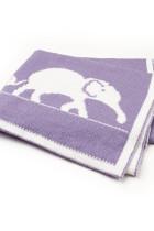 Mor sevimli fil desen Bebek kundak battaniye
