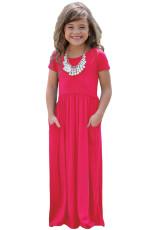 Rosy lyhythihainen Pocket Design Tyttöjen Maxi mekko
