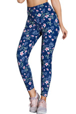 Wysoka Talia Floral Print Compression Womens Leggings