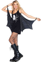 Black Jersey Dress Spiderweb Costum Cosplay