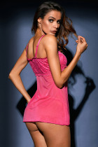 Rosy Heart Cut out Busto Babydoll con perizoma