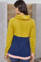 Mostarda Marinha Colorblock Thumbhole Sleeved Moletom