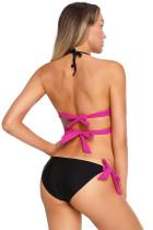 Rosy Wrap Front Halter Bikini Tie sivupohja uimapuku