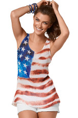 Flag of America Sleeveless Tank Top