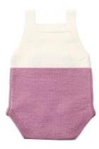 Lilac Little Mouse Cotton Bodysuit Tanpa Lengan Baju Bayi