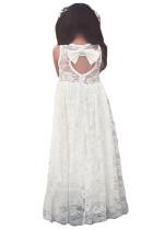 Белое платье без рукавов
