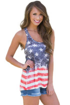 Stêrên û Stripes Flag Sleeveless Tank Top