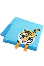 Sipphire Tiger Baby Receiving Blanket