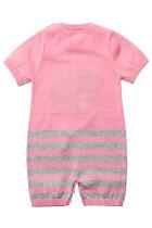 Pink Cute Cloud Pattern Knit Newborn Baby Romper