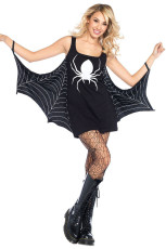 Μαύρο φόρεμα Jersey Dress Spiderweb Cosplay