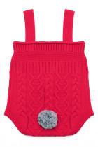 Kabel Merah Knit Bunny Tail Baby Romper