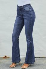 Medium Blue Wash Vintage Wide Leg Jeans