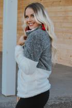 Charcoal Valkoinen päällinen kaulakoru Ylisuuret fleffey fleece pullover
