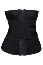 Black Neoprene Workout Tricot Trainer curea Body Shaper