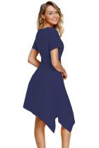 Dress Midi Angkatan Laut Twist Front Jersey