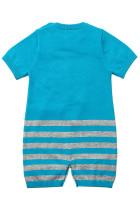 Blue Cute Cloud Pattern Knit Newborn Baby Romper