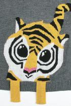 Pălăria de primire din gri Tigru pentru copii