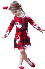 Новогоднее платье для девочек с оленеводством