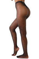 Star Dust Fishnet Pantyhose i svart