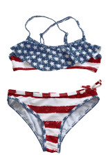 Stars & Stripes Flounce Bikini Badedrakt for barn