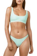 Vaaleansininen urheilullinen muoti bikini uimapuku