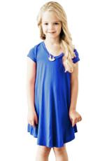 Koboltti Sininen lippis hihaton mekko pikkuille