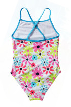 Little Girls 'Cross-Back Solsikke One Piece Badedrakt
