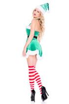 Зеленый Северный полюс Эльф Рождественский костюм