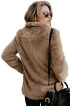 Ruskea pocket tyyli pörröinen talvikerros