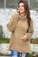 Khaki Soft Velvet neuloa villapaita