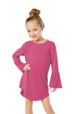 Rosy Flared Langærmet Shirttail Baby Girl Dress