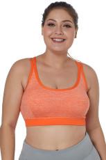 Oranssi Double Straps Heathered Urheiluholkki