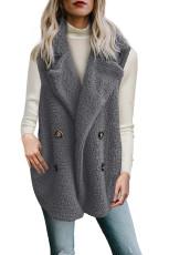 Painike Yksityiskohta Grey Lambswool Vest Jacket
