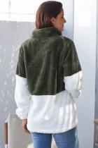 Atrovirens Valkoinen päällinen kaulakoru Ylisuuret fleffy fleece -paidat
