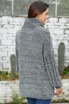Harmaa pehmeä Velvet neuloa villapaita