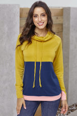 Sennep Navy Colorblock Thumbhole Sleeved Sweatshirt
