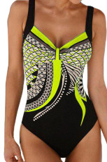 Gul Tribal Print One Piece Badedragt